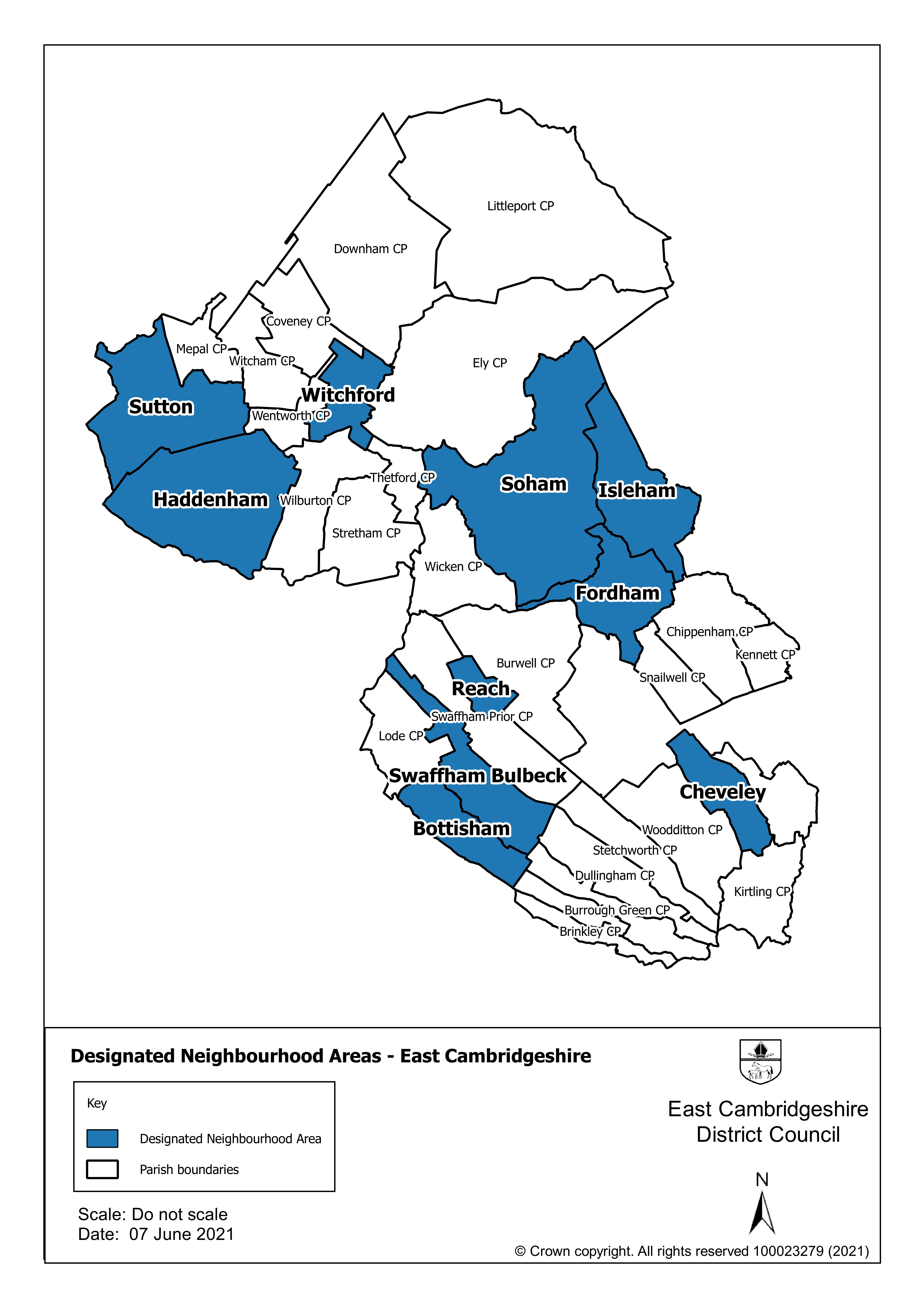 Designated Neighbourhood Areas in East Cambridgeshire