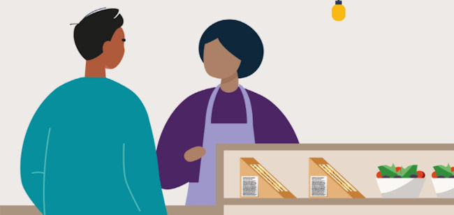 Image of buying labelled food