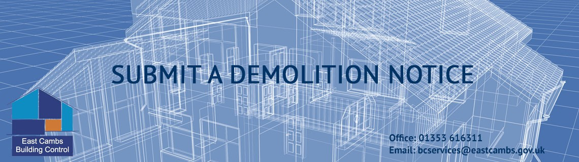 Submit a demolition notice