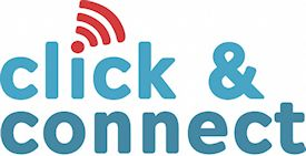 click and connect logo