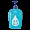 Liquid soap dispenser bottle